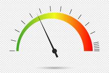 Speedometer Icon At Transparen...
