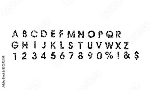Broken black alphabet icon. Vector illustration eps 10 Tapéta, Fotótapéta