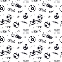 Seamless Pattern With Soccer B...