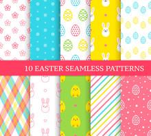 Ten Different Easter Seamless ...