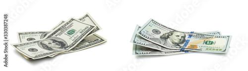 Fotografia American dollars on white background