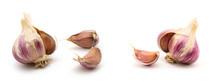 Garlic Isolated On White Backg...