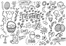 Happy Easter Hand Drawn Vector...