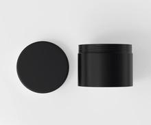 Black Cosmetic Jar Mockup With...