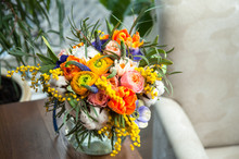 Bouquet Of Yellow Ranunculus I...
