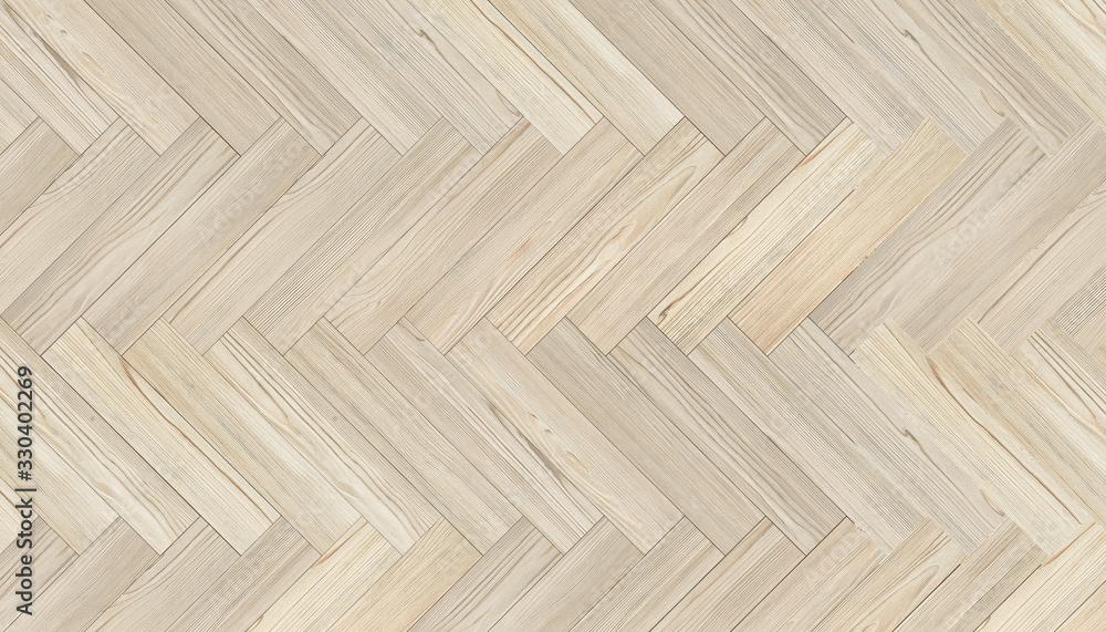 Fototapeta Natural wood texture. Luxury Chevron Parquet Flooring. Harwood surface. Wooden laminate background - obraz na płótnie