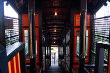 Historic Angels Flight Train Interior - Downtown Los Angeles  Railway Transportation