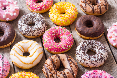 Fotografia, Obraz Beauty assorted donuts