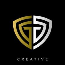 Gg Shield Logo Design Vector