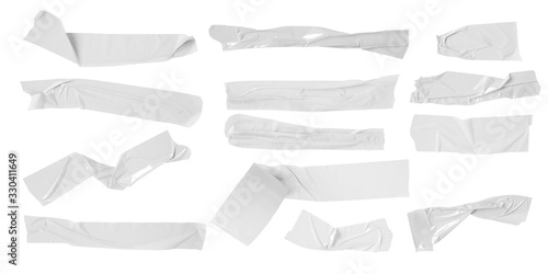 Fotomural Set of white scotch tapes on white background