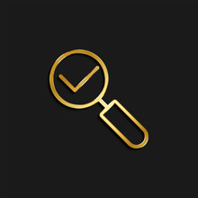 Select, Zoom Gold Icon. Vector...