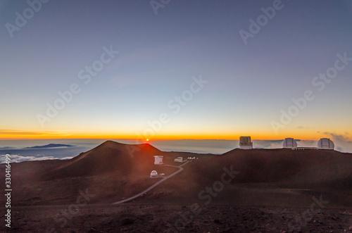 Mesmerizing view of sunset at Mauna Kea in Big Island Hawaii USA