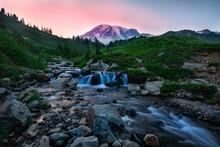 Mt Rainer Sunset, Washington