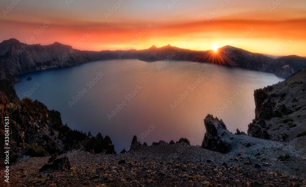 Fototapeta Crater Lake Sunset, Oregon