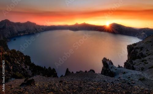 Fototapeta Crater Lake Sunset, Oregon obraz