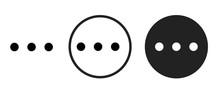 More Icon . Web Icon Set .vector Illustration