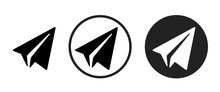 Paper Plane Icon . Web Icon Set .vector Illustration