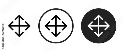 Fototapeta move icon . web icon set .vector illustration obraz