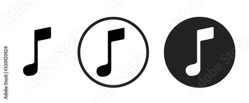 Obraz na płótnie musical note icon . web icon set .vector illustration