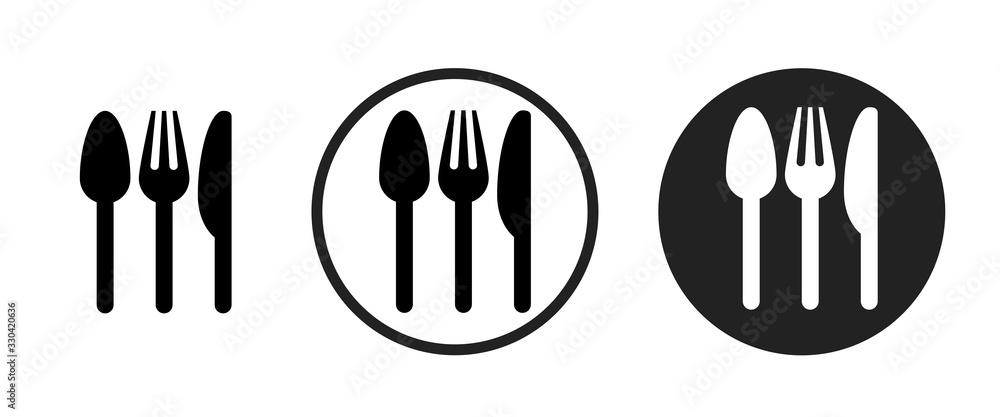 Obraz restaurant icon . web icon set .vector illustration fototapeta, plakat