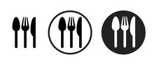 Restaurant Icon . Web Icon Set .vector Illustration
