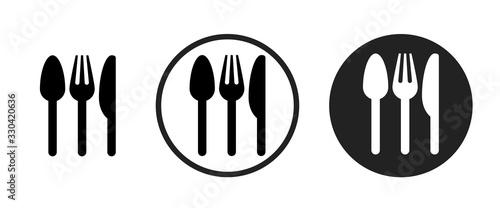 restaurant icon . web icon set .vector illustration Canvas Print