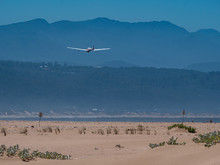 Air Plane Across Africa Plettenberg Bay Ocean Beach With Mountain Scene At Background