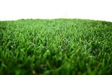 Empty Green Grass Turf Floor A...
