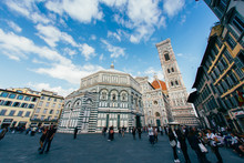 Florence, Tuscany, Italy - September, 17, 2017: Unidentified Tourists Visiting Cattedrale Di Santa Maria Del Fiore (Cathedral Of Saint Mary Of The Flowers - Duomo Di Firenze),