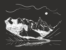 Linear Sketch Of Cerro Torre M...