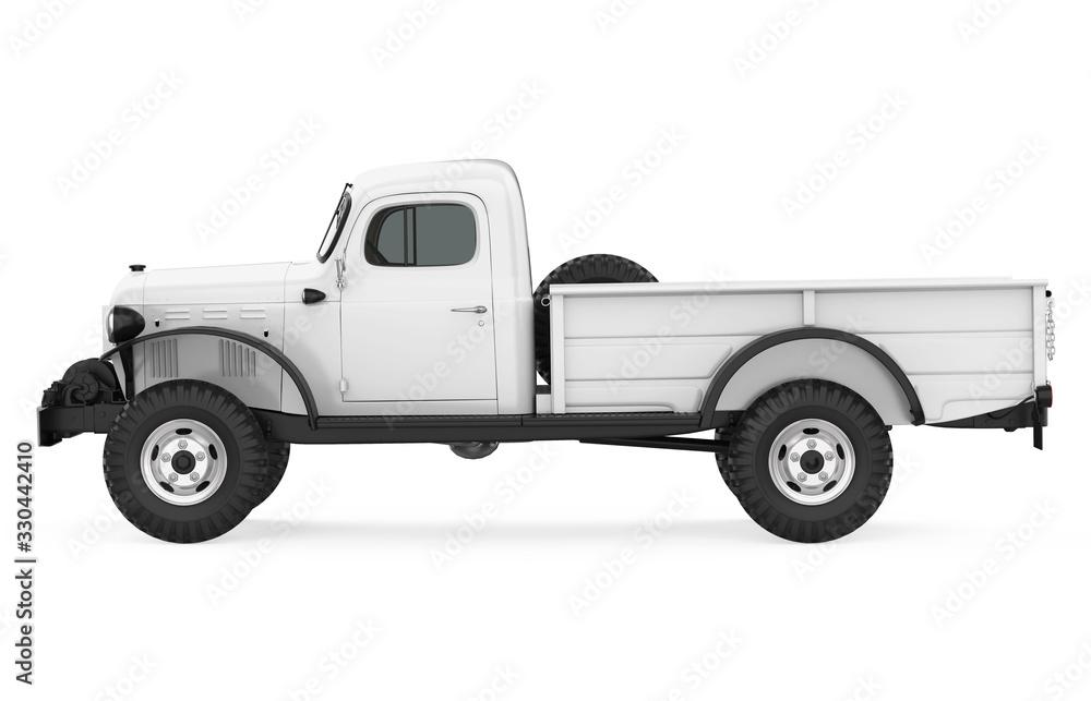 Fototapeta Vintage Pickup Truck Isolated