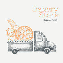 Bakery Delivery Logo Template....