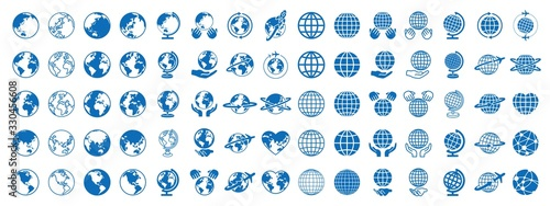 Obraz 地球 グローバル アイコン - fototapety do salonu
