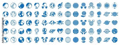 Obraz na plátně 地球 グローバル アイコン