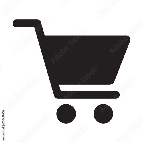 shopping cart trolley icon Fototapete