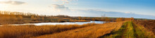 Panorama Of Steppe Lake Among ...