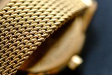 Gold Color Macro View Of Metal...