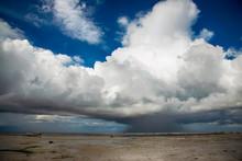 Rain Cumulus Cloud Over A Shal...