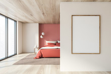 White And Pink Bedroom With Ve...