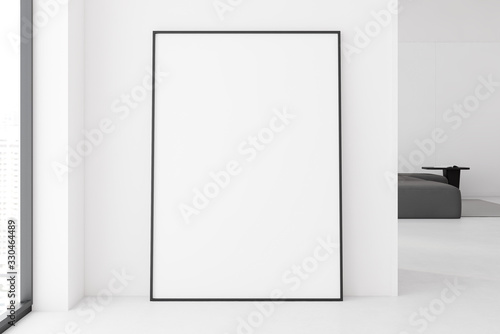 obraz dibond Vertical mock up poster on living room floor