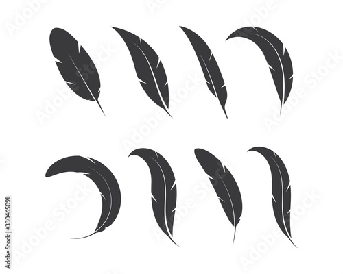 feather icon illustration vector template Fotomurales