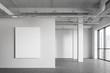 Leinwanddruck Bild - Poster in empty industrial style room