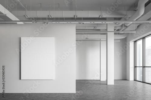 Obraz Poster in empty industrial style room - fototapety do salonu