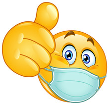 Emoji Emoticon With Medical Ma...
