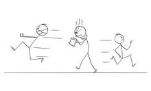 Vector Cartoon Stick Figure Dr...