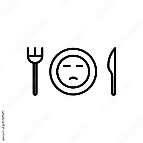 Loss of appetite icon. Flat Vector Graphic in White Background. Wallpaper Mural