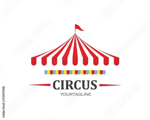 Fototapeta Circus tent logo template Vector