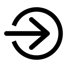 Login Icon With Arrow, Vector ...
