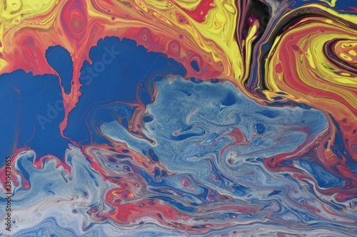 Liquid oil art - great for an artsy background or wallpaper Canvas Print