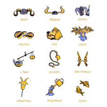 Twelve Zodiac Signs Accessorie...